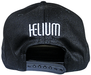 helium e-liquid black snap back hat