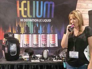 vaping helium e-liquid